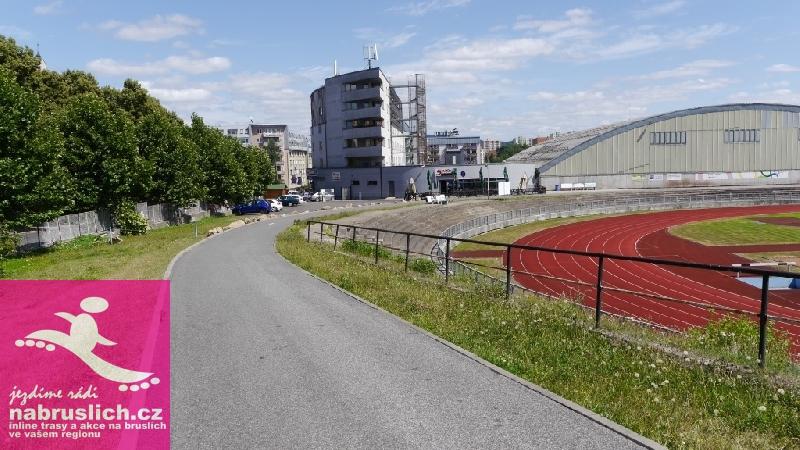 Inlime stezka ve Sportparku Liberec